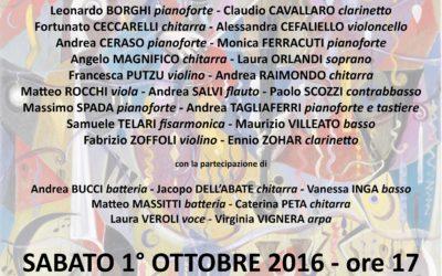 Concerto dei Docenti – Sabato 1 Ottobre 2016