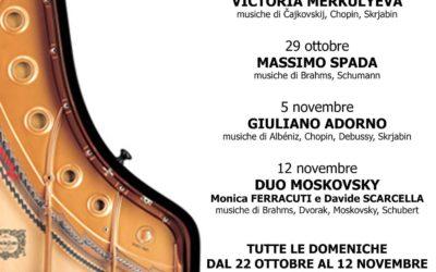 """Ritorna la """"Rassegna Pianistica Eufonia"""" – Edizione 2017- Tutte le domeniche dal 22 Ottobre al 12 Novembre"""