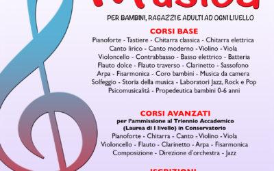LUNEDI 9 SETTEMBRE 2019 RIAPRONO LE ISCRIZIONI AI CORSI DI MUSICA DI EUFONIA