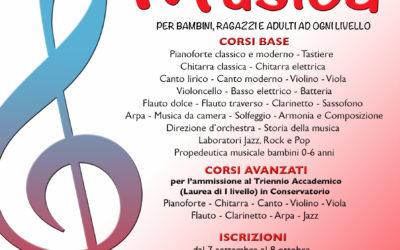 LUNEDI 7 SETTEMBRE 2020 RIAPRONO LE ISCRIZIONI AI CORSI DI MUSICA DI EUFONIA