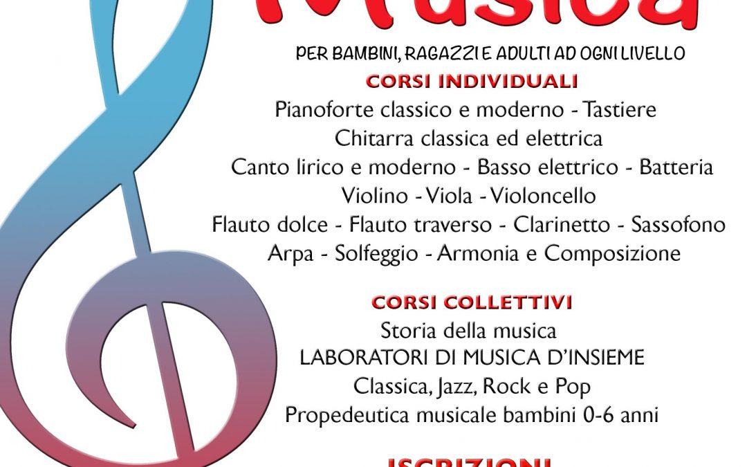 LUNEDI 6 SETTEMBRE 2020 RIAPRONO LE ISCRIZIONI AI CORSI DI MUSICA DI EUFONIA